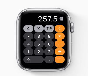 watchOS 6 - rekenmachine